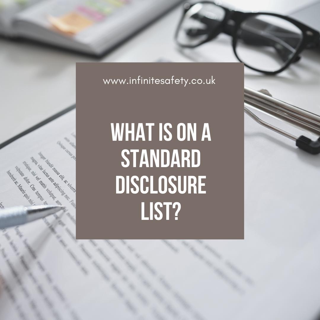 Standard Disclosure List